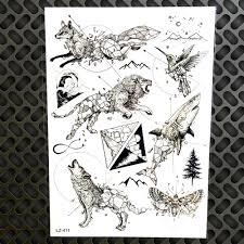 Mountain Compass Vesmíru Dočasné Tetování Spaceman Akvarel Planety