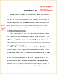 Example Of A Response Essay 10 Summary And Response Essay Example Cover Letter