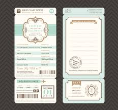 wedding invitation ticket template vector free vector in adobe Wedding Invitations Templates For Illustrator first class ticket with wedding invitation templates vector wedding invitation templates for adobe illustrator