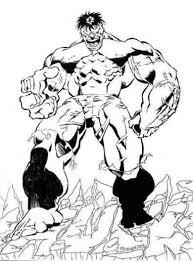 Kleurplaat Hulk 3