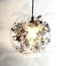 flower pendant light fixture glass globe within decor 17