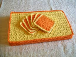 Free Crochet Placemat Patterns Gorgeous SunRise Crochet Placemat And Coaster Set Free Original Patterns