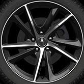 2018 acura tlx black. fine 2018 19in black diamondcut wheels with tires 3204 on 2018 acura tlx black