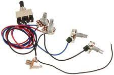 guitar wiring harness gibson replacement guitar wiring harness 2v2t 3 way toggle switch jack 500k pots