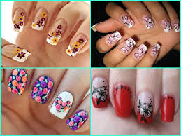 DIY Floral Nail Art Designs and Tutorials - Indian Beauty Tips