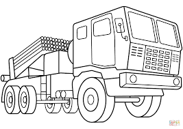 Small Picture Multiple Rocket Launcher Vehicle coloring page Free Printable