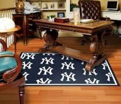 office rug. New York Yankees Custom Office Rug