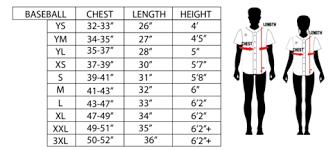 Jersey Size Chart Kinetic Society Llc