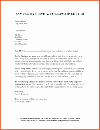 Follow Up Letter Template After Interview Unique How To Follow Up An