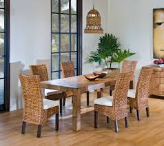 rattan dining room set. beautiful rattan dining room chairs set and wood table in a with pendant lighting hardwood flooring n
