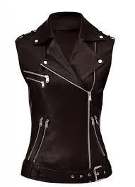women brown vest front