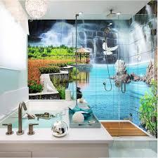 Stone Brick 3D Waterproof Bathroom Wall Murals  BeddinginncomBathroom Wallpaper Murals