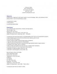 Inventory Resume Samples Creative Inspiration Shipping Clerk