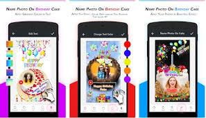 app to enter name photo on birthday cakes