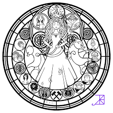 Small Picture Disney Brave Stained Glass Merida line art by Akili Amethyst