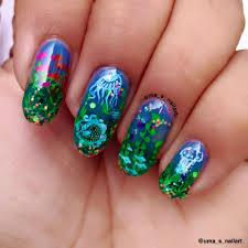 Uma's Nail Art: Underwater Jelly Nail Art...