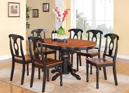 Round Kitchen Table For 8 Kitchen Black Kitchen Table Set Also Astonishing Black And Wood