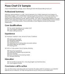 Chef Cv Template Pizza Chef Cv Sample Myperfectcv