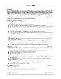 9 best images of music business resume sample music industry