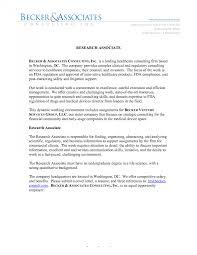 Clinical Research Associate Job Description Resume Research Associate Cover Letter Clinical Sample Undergraduate 88