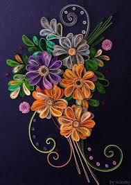 Paper Quilling Flower Bokeh Quilled Flower Bouquet Quilling Quilling Flowers