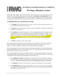 Professional Business Letters Examples 8 Business Formal Letter Examples Pdf Examples