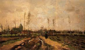 landscape with church and farms painting vincent van gogh landscape with church and farms art