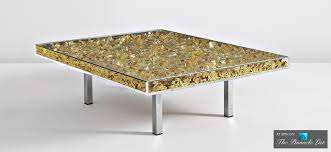 contemporary art furniture. Table D\u0027Or - Contemporary Art As Modern Luxury Furniture Spotlighting The Yves Klein Of 1963 N
