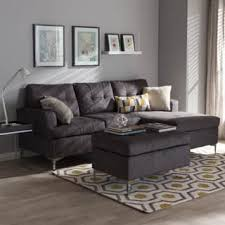 contemporary gray living room furniture. Exellent Contemporary Baxton Studio Haemon Modern And Contemporary Grey Fabric Upholstered  3Piece Sectional Sofa With Ottoman On Gray Living Room Furniture T
