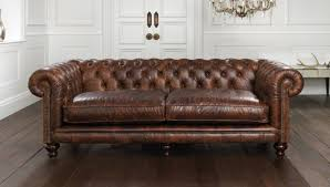 The full Aniline leather Hampton Chesterfield Sofa.