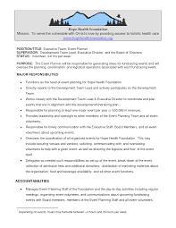 Easy Event Planner Job Description Sample Resume Cv Cover Letter
