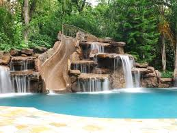 in ground pools with waterfalls. Outdoor Swimming Pool Designs With Incredible Waterfalls In Ground Pools