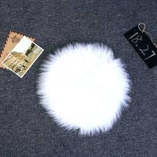 curly mongolian fur rug fluffy faux small round carpet soft mats white mongolian fur rug