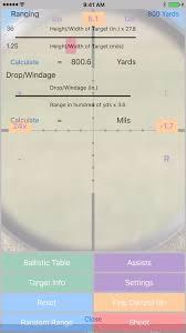Mildot Master Chart Longshot Metric Long Range Shooting Simulator And Mildot