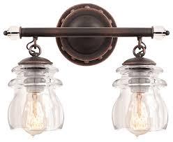 farmhouse vanity lights. Charming Farmhouse Vanity Lights Antique Copper 2 Light Bathroom Lighting 3
