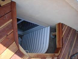 image of basement egress window well