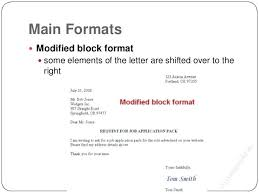 Business Letter Format Block With Letterhead Sample Professional