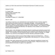 Example Cover Letter For Teaching Position Sample Faculty Position Cover Letter 7 Free Documents In