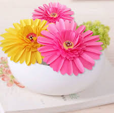 How To Make A Beautiful Flower With Paper How To Make Beautiful Paper Daisy Flowers 6 Steps With Pictures