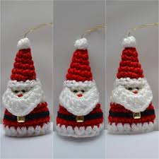 Crochet Christmas Ornaments Patterns Cool Ravelry Crochet Santa Christmas Ornament Pattern By Aneta Izabela