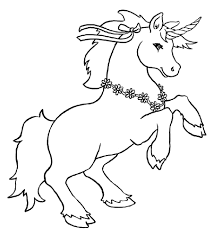 Unicorn Color Pages For Kids Loving Printable