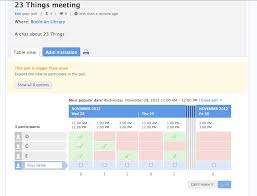 calender tools thing 21 using doodle and other online scheduling tools 23 things