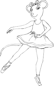 Small Picture Awesome Angelina Ballerina Coloring Pages 51 With Additional Free
