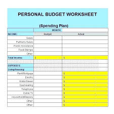 Excel Home Budget Template Personal Free Household Spreadsheet ...