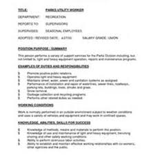 Utility Worker Sample Resume Mitocadorcoreano Com