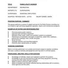 Utility Worker Sample Resume