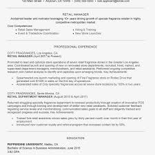 99 Retail Management Resume Objective Sample Retail Management