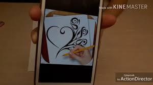 как нарисовать татуировку сердце на бумаге