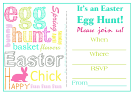 Easter Egg Hunt Invitation Templates For Free Happy Easter 2018