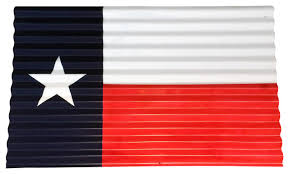 corrugated metal texas flag wall decor contemporary metal wall art by leigh country